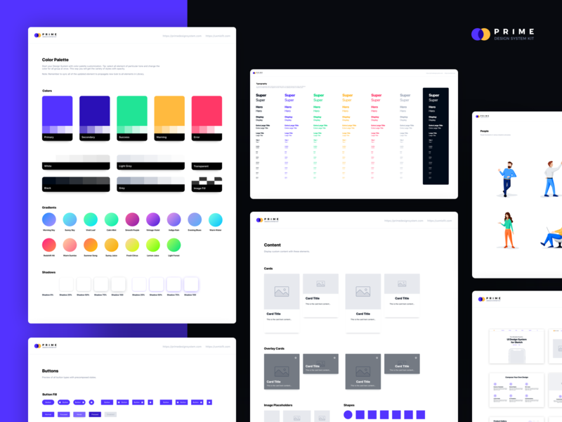 Prime Design System Kit for Sketch - Style Guide ui component library system design ui  ux style guide styleguide uikit ui kit design system prime