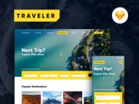 Traveler Web & Mobile Concept