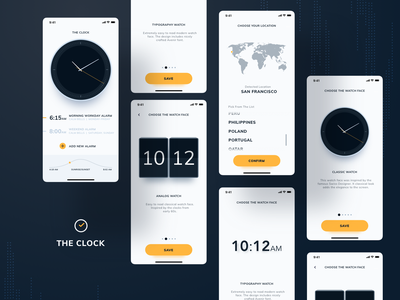 The Clock iphone x timer night light dark white alarm app alarm minimalistic ios time clock