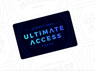 UX Misfit Tools - Ultimate Access Card Design ux design design resource design resources user flow design system freebie sketchapp sketch card uxmisfit