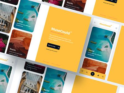 Muse Cloud - Web App Concept uxui orange webdesigns sketchapp ui kit yellow webdesign web design system prime