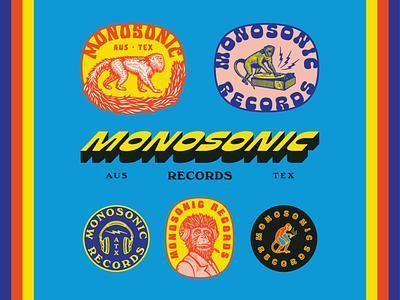 Monosonic Records marks brand design customtype identitydesign branding design typography illustration branding