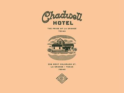 Chadwell Hotel logo design color illustration custom type typography hotel brand branding design branding