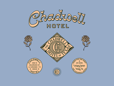Chadwell Hotel logo design color illustration custom type typography hotel brand branding design branding