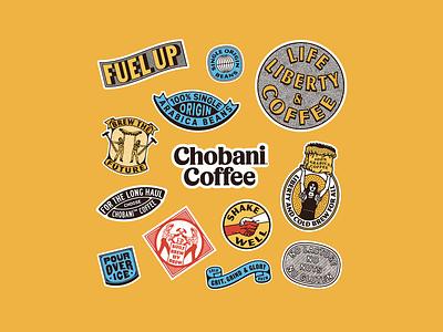 Chobani Coffee product design packaging custom type print typography illustration branding chobani cold brew