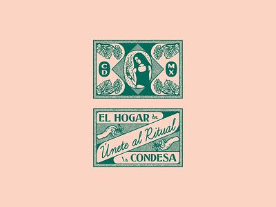 Condesa Gin custom type typography illustration mexico city brand identity branding package design gin liquor spirits packaging