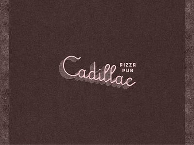 Cadillac Pizza Pub restaurant brand brand design marks illustration typography type branding