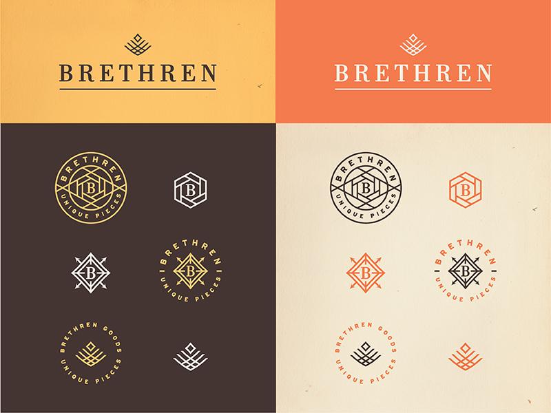 Brethren Marks / Final Collection marks branding logo type badge seal