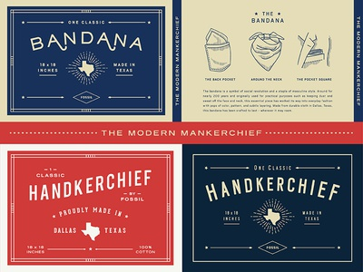 The Modern Mankerchief texas illustration packaging handkerchief bandana type