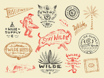 Wilde Supply Co Apparel wild design print outdoors illustration typography type apparel marks branding sketch process