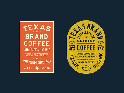 TX Coffee Labels
