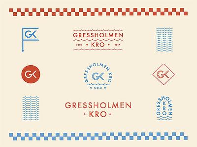 Gressholmen Kro Brand typogaphy type print color norway oslo seal stamp marks restaurant