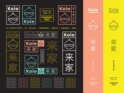 Koie Ramen Oslo / Brand Specimen noodles japanese type restaurant typography marks color branding ramen