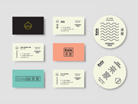 Koie / Business Cards + Coasters