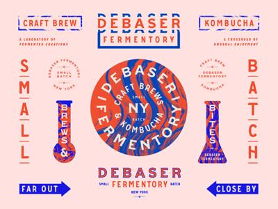 Debaser Fermentory / Brand Specimen / Day graphic branding restaurant bar color seal badge typography type marks