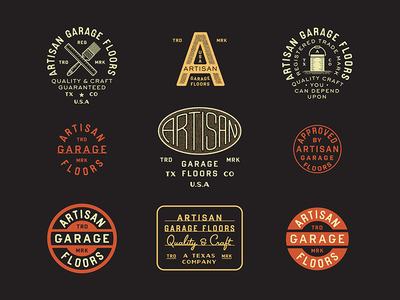 AGF Brand Marks typography type makers badge brand design marks artisan auto vintage