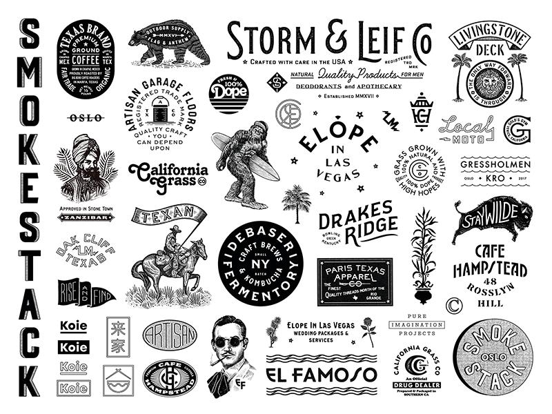 2017 illustration design graphic logo branding typography type marks