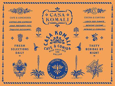 CK / Brand Specimen floral bar cafe restaurant color illustration tropical typography type