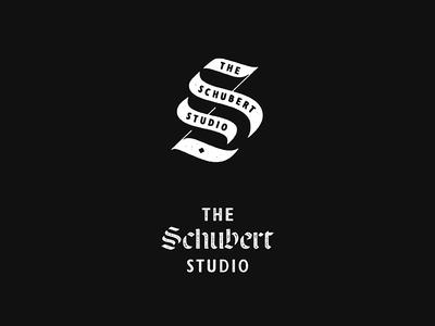 The Schubert Studio branding typography custom type type logo marks
