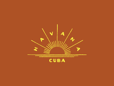 Havana tropical typography type art deco deco cub havana