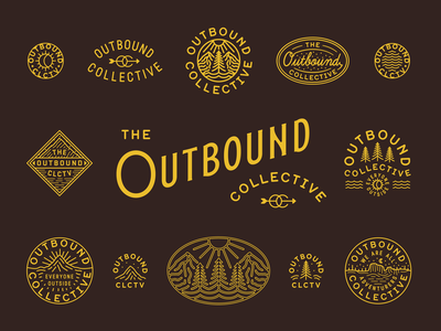 The Outbound Collective type patch branding mountains nature apparel outdoor outbound