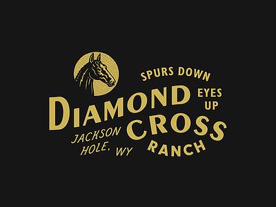 Diamond Cross Ranch wyoming western horse cowboy ranch branding typography type
