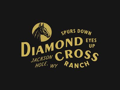 Diamond Cross Ranch wyoming western horse cowboy ranch branding typography type