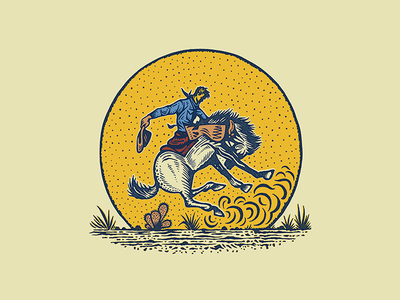 Get Rowdy texas graphic ink western rodeo print illustration cowboy