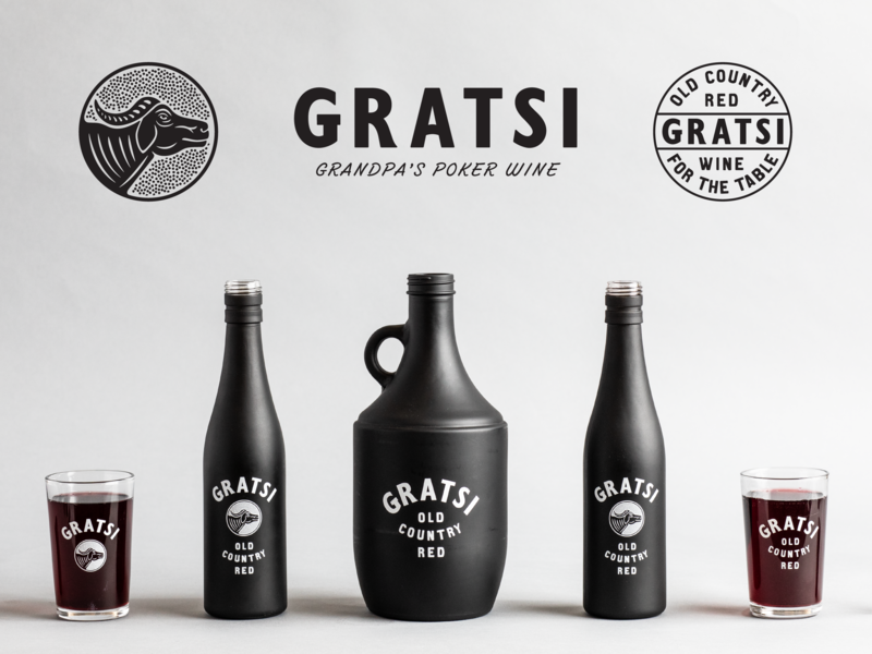 GRATSI WINE marks bottle design type typography label design brand design branding packaging design wine
