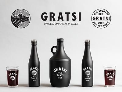 GRATSI WINE marks bottle design type typography label design brand design branding packaging design wine