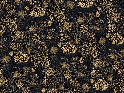 Texas Forever plants cacti hand drawn illustration print graphic desert western landscape texas pattern apparel