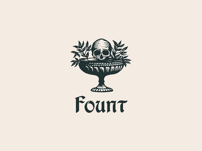 Fount brand design identity design custom type typography skull illustration type