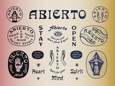 Abierto marks logo brand design