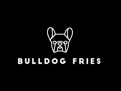 Bulldog Fries Logo illustration adobe design logo design concept logo design adobe illustrator logos logodesign bulldog logo