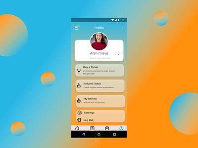 User Profile ui illustration ux minimal icon flat design app