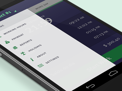 Work log app for Android