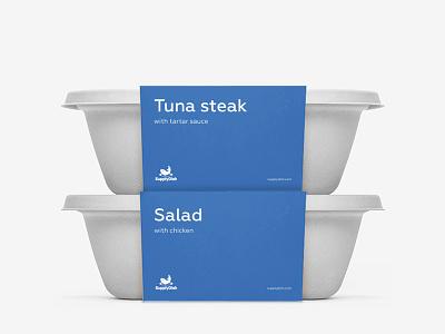 Supply Dish label  packaking steak fish food label