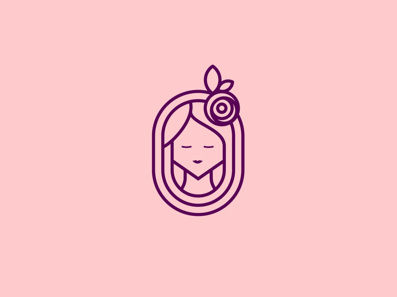 Beautiful women logo design branding concept hairstyle glamour spa care salon head hair fashion design female woman face vector beauty logo girl