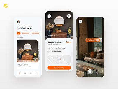 Rental app design clean settings options filters personal solution rental location urban finding apartment rent development ux app design ios app android app ui design app