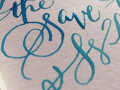 S & W experiments  calligraphy script