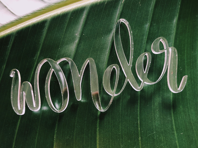Letters & Lasers: Wonder glowforge hand drawn laser cutter lettering