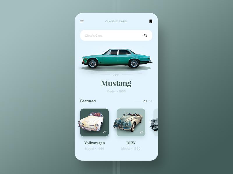 Vintage Car App vintage cars classic car photoshop designer vector branding car app logo illustration ux ui graphic design design app design app