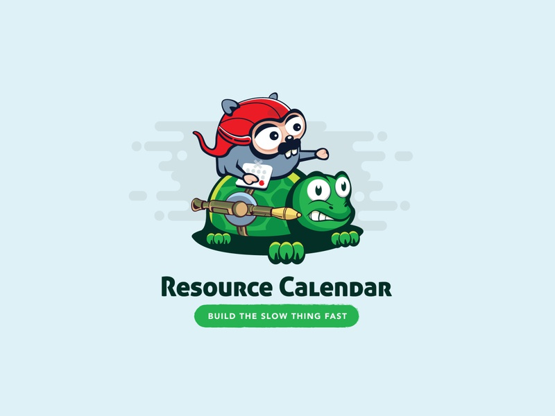 Resource Calendar modern character calendarlogo calendar graphic design icon photoshop graphic logo illustration designer design branding