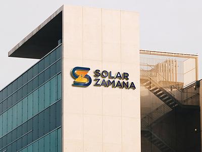 Solar Zamana Branding logo design branding logodesigning logos branding solar zamana logodesign