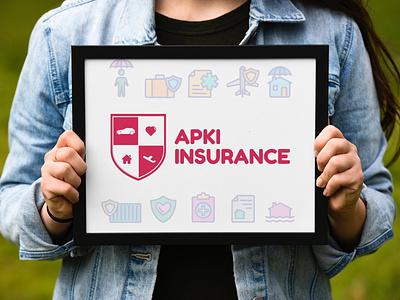 Apki Insurance Branding logo design brand identity branding logos logodesign