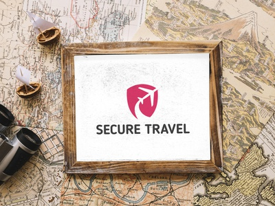 Secure Travel Branding brand identity brand design travel logo logo design concept branding logo