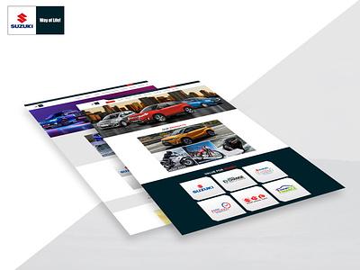 Website Design for Pak Suzuki website development web design agency web design ui website