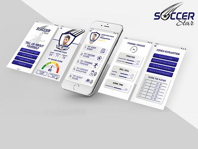 Soccer Stars Mobile App app designer ui ux app development mobile app design