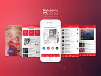 Match Elite Muslim Mobile App uiux app design mobile app development mobile app