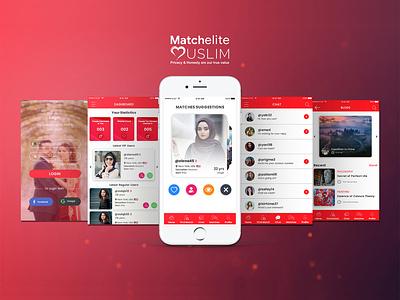 Match Elite Muslim Mobile App uiux app design mobile app development mobile app